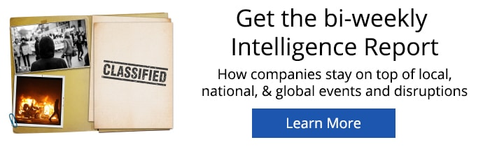 Intelligence Report Banner - Tacon Ready